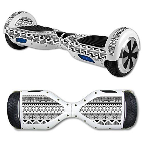 MightySkins Protective Vinyl Skin Decal for Self Balancing Scooter Hoverboard mini hover 2 wheel x1 razor wrap cover sticker Black Aztec