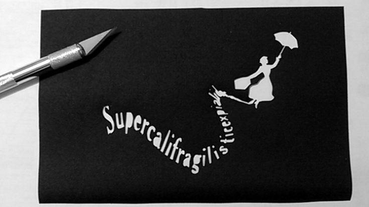 Trousse Mary Poppins, découpé au cutter - monbookcouture.canalblog.com