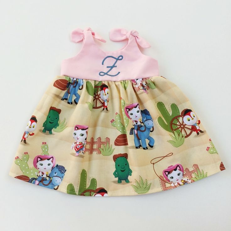 In my #etsy shop: Sheriff Callie dress, Sheriff Callie's Wild West Dress, Disney inspired outfit, baby dress, coming home outfit, birthday dress http://etsy.me/2oO2LHT #clothing #children #dress #girl #newborn #babydress #cominghomeoutfit #monogrammed #toddler