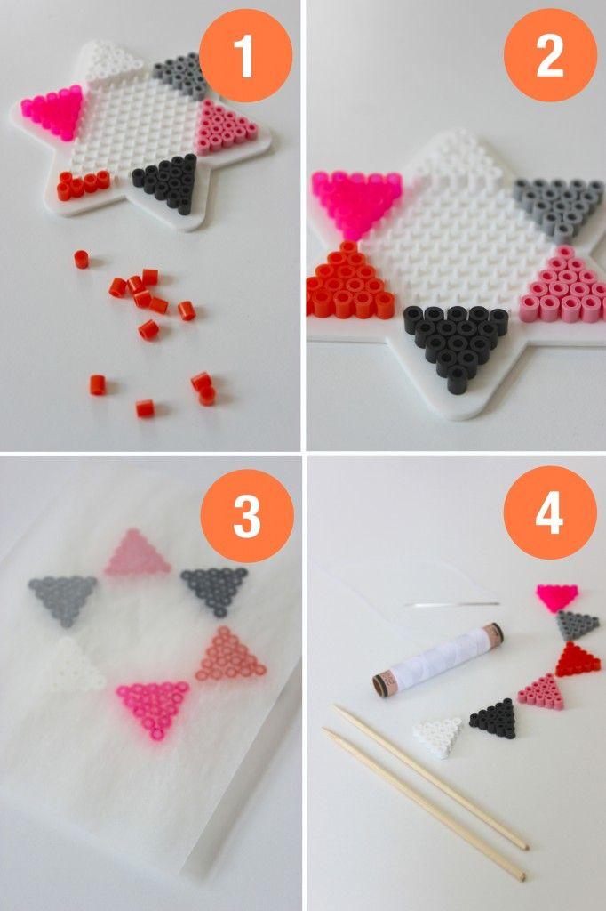 Store bededag DIY - Lav en flagranke af perler