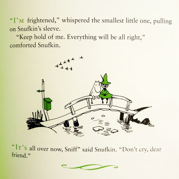 Sometimes all one must do to reassure someone is to remind them you are there. | 50 Lessons That Moomins Can Teach You About Life