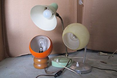 3 ABAT JOUR - lampade da tavolo -anni 60 - 70  space age