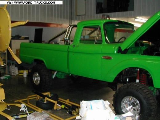 1966 Ford F100 4x4 - Green Ford | Sob ford project ...  1966 Ford F100 ...