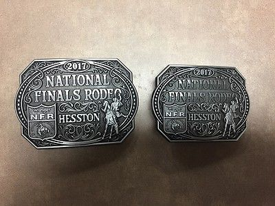 NEW!!!!  2017 Hesston National Finals Rodeo Adult & Youth Belt Buckle (2 Buckles