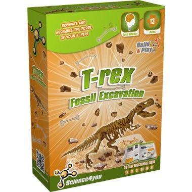 Science4You T-Rex fossielen uitgraven  Dankzij de T-Rex fossiel uitgraving zal je veel leren over fossielen en de dinosaurus. Wat gebeurde er in het verleden en waarom zijn ze uitgestorven?  EUR 8.99  Meer informatie