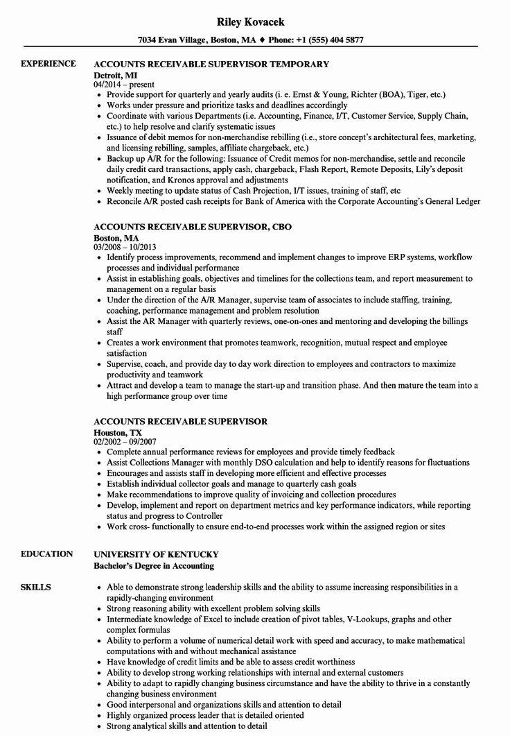 Account Receivable Resume Example Unique Accounts