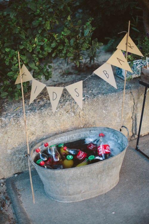 DIY – Getränkebar für die Kids #hochzeit #hochze…