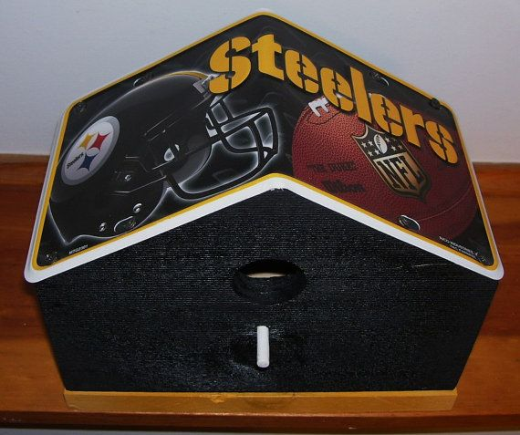 Pittsburg Steelers License Plate Birdhouse by PineTreeBirdhouses