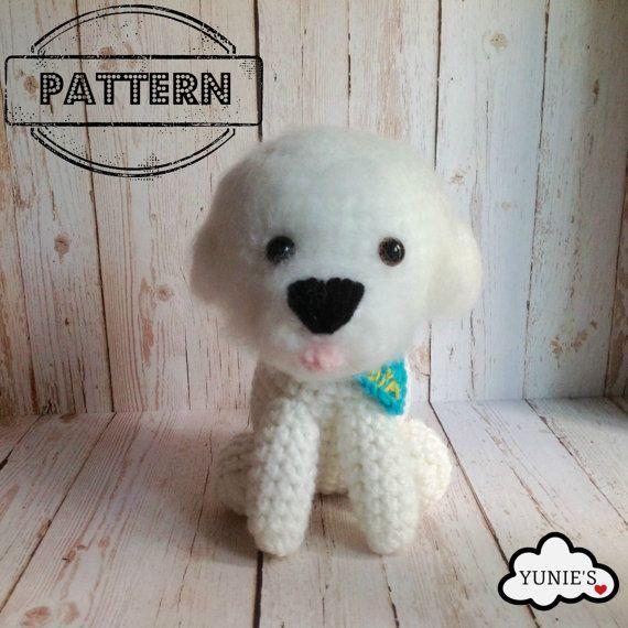 What a adorable Bichon frise ! #crochetpattern #crochet #amigurumi