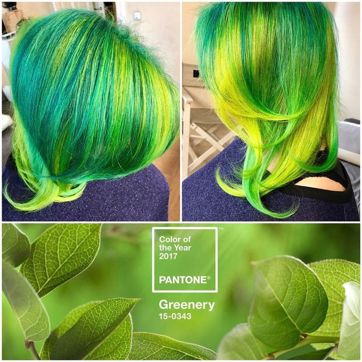 Greenery - color of the year applied in hair coloration