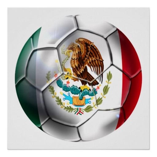 Mexico el Tri soccer ball Mexican flag gear Print