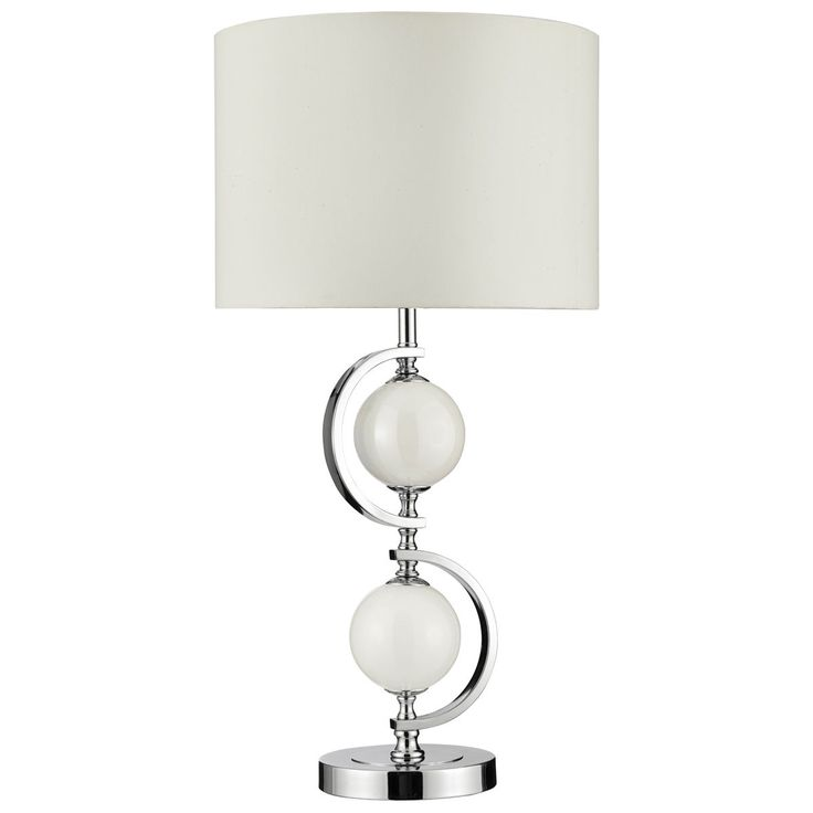 36 best table lamps by dushka ltd london uk images on pinterest chrome table lamp cream glass balls and drum shade from dushka ltd london uk aloadofball Gallery