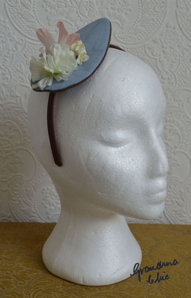 Handmade Fascinator by Grandma Chic 'Dusky Blue' £23.00