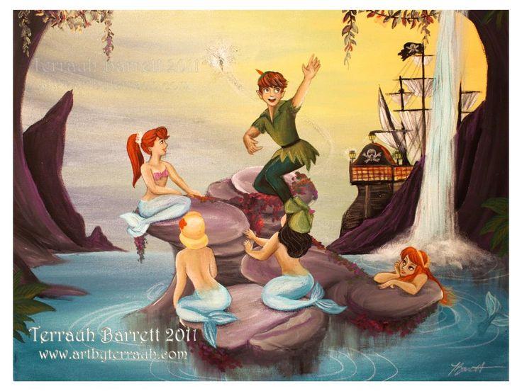 in the mermaid lagoon - disneys-peter-pan Fan Art