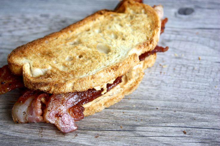 Peanut butter @ bacon sandwich, yes please!