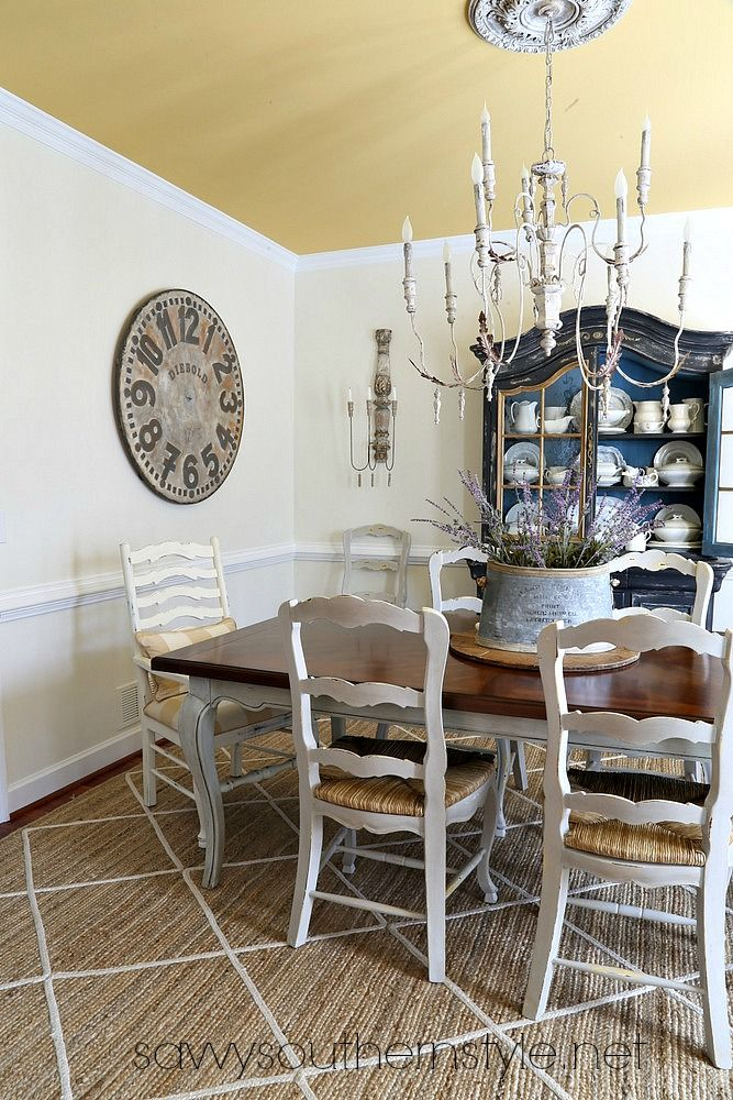 Savvy Southern Style: Changes Are Coming In French Country Dining Room