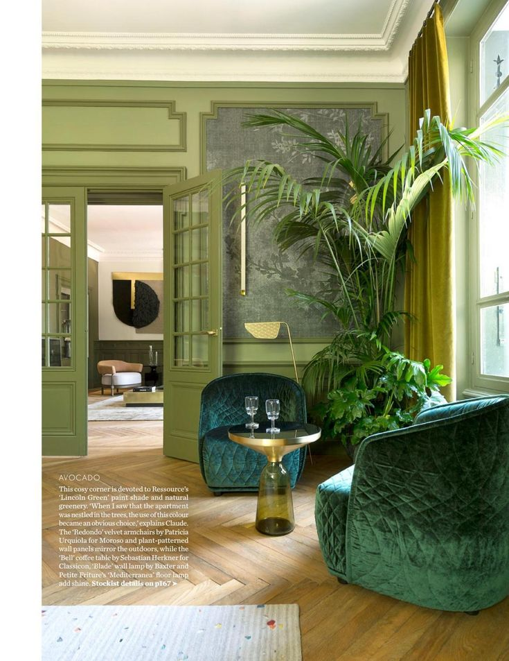 Ressource Lincoln Green Paint Color Living Room