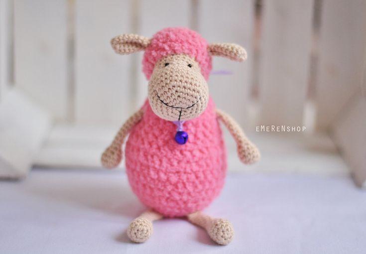 Sheep Amigurumi, Crochet Sheep, Super Soft, Super cute, crochet softie, crochet animal, stuffed toy, holiday gif - Polly the Lamb by EMERENstore on Etsy