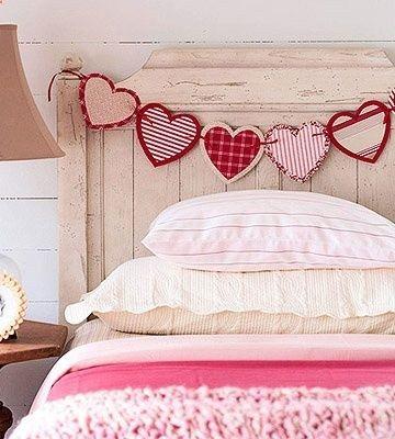 Regalos originales para novios: guirnalda de tela en forma de corazón con diferentes estampados - sigue nuestro paso a paso!