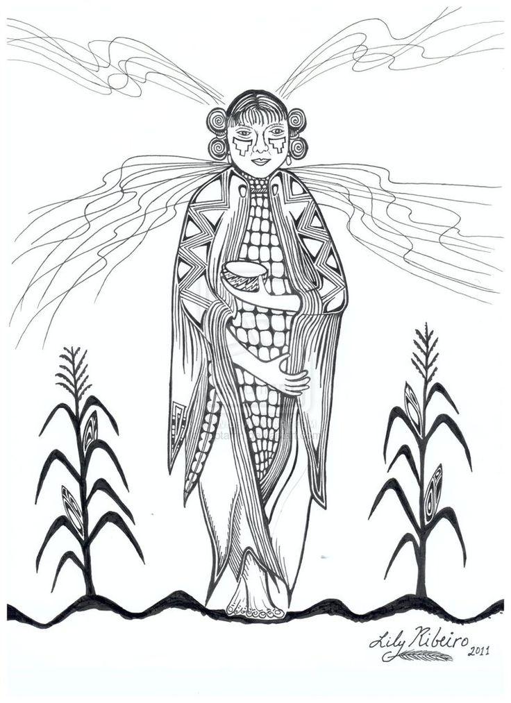 corn maiden coloring page Google Search Lammas