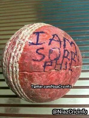 ''I am Sorry Phill'' Sean Abott Wrote On The Ball By Which Phil Hughes Scored His 63* Not Out Forever #HappyBirthday