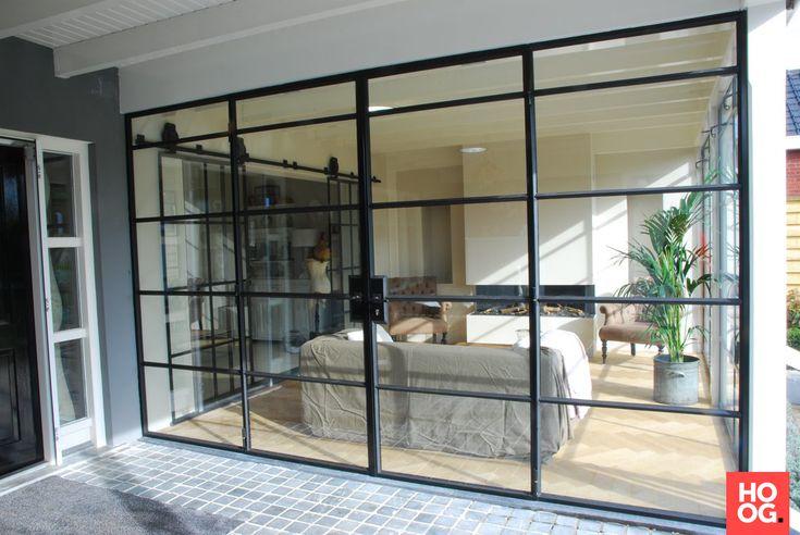 Het Stalen Deuren Huys - Stalen buitenpui met dubbel glas - Hoog ■ Exclusieve woon- en tuin inspiratie.