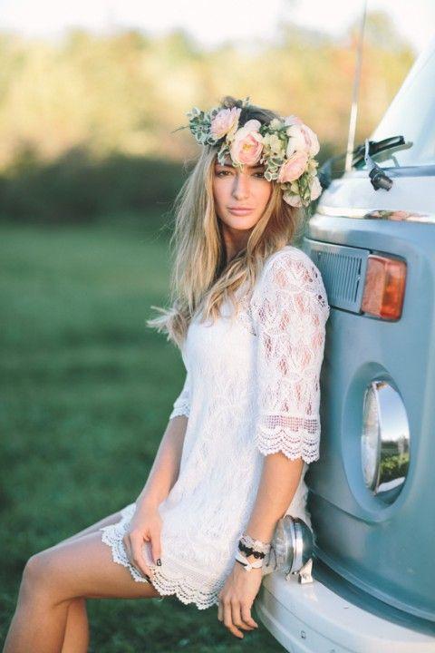 45 Beautiful Boho-Chic Wedding Dresses   HappyWedd.com