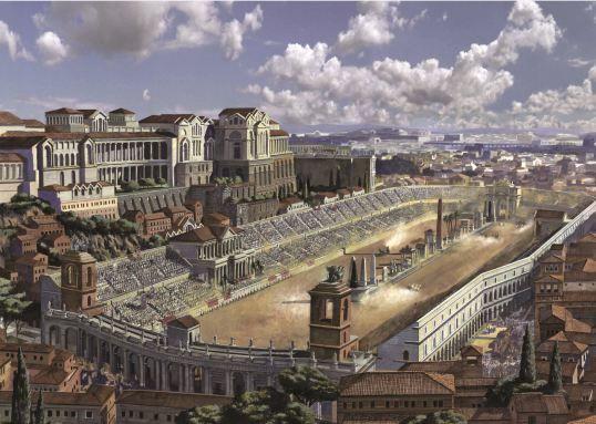 Artist's reconstruction of Rome's Circus Maximus....so beautiful!!!