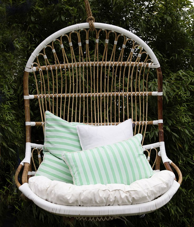 Lazy Sunday with our Double Rattan Hanging Chair and Striped Cushions...heaven!