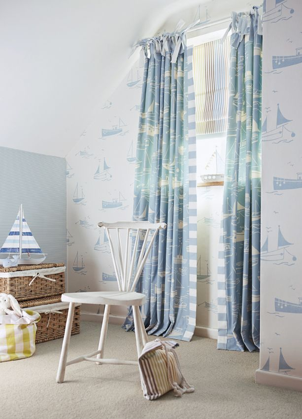 Sail Away by Harlequin - A timeless retro-style boat design, perfect for all ages.