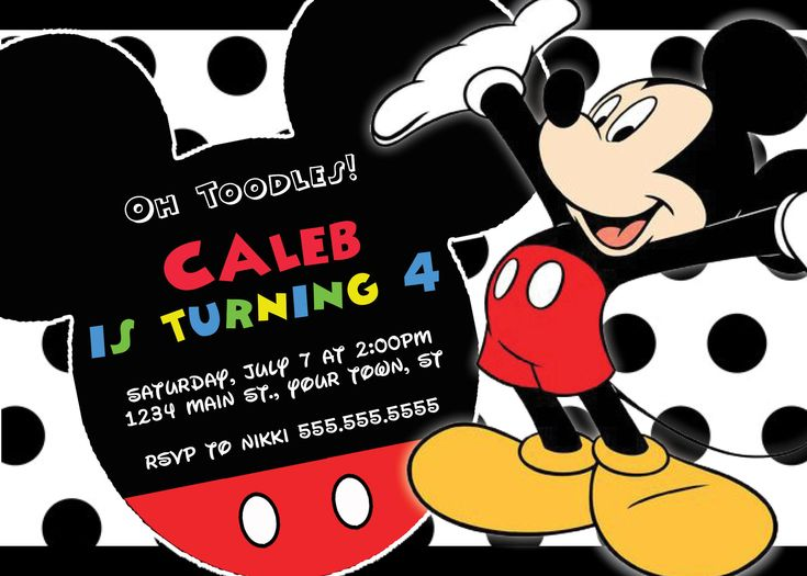 92 best Etsy- Nicole Party Designs images on Pinterest Birthday - mickey mouse invitation template
