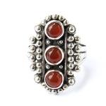 A handmade LotusMoon carnelian ring $99