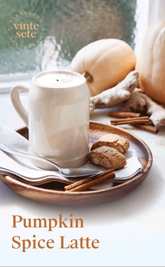 Pumpkin Spice Latte, The drink that best represents Autumn.  With the fruity flavor of the pumpkin and the rich aromas of spices, the Pumpkin Spice latte is the perfect drink to welcome the cool autumn days.