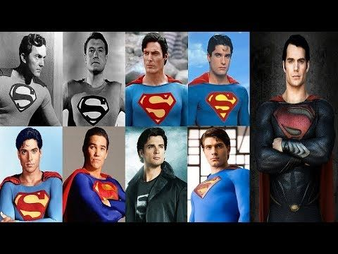 Superman Cast 1948, 1951, 1978, 2006, 2013, 2016, 2018 - Superman Movie ...