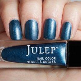 Blue steel matte metallic nail polish