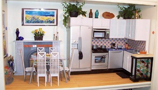 Kitchen Diorama Made Of Cereal Box: 17 Best Images About Diorama/Dollhouse Ideas On Pinterest
