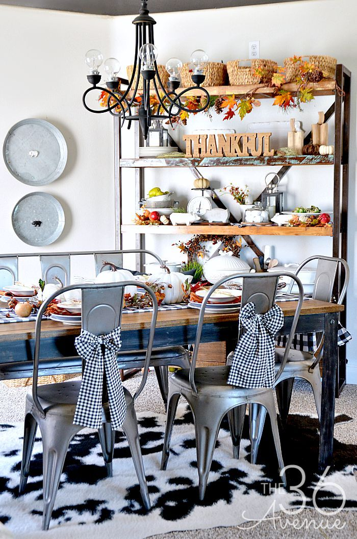 Fall Decor Dining Room Room And Shop Cabinets