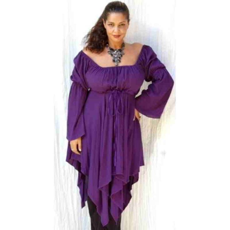 PRE-ORDER - Classic Peasant Renaissance Blouse with Long Sleeves (Plum Purple) $65.00 http://www.curvyclothing.com.au/index.php?route=product/product&path=95_97&product_id=9415