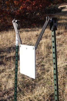 "Rogue Shooting Targets, 3/8"" AR-500 Steel Square Shooting Target with ""T""-Post Hanger. www.rogueshootingtargets.com"