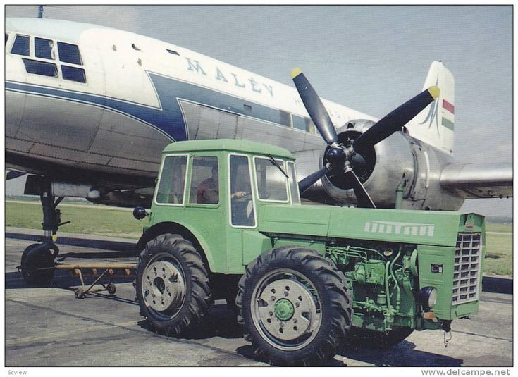 Il-14 es Dutra 4400 tractor pulling MALEV Airlines prop airplane , 50-60s Hungary - Delcampe.com