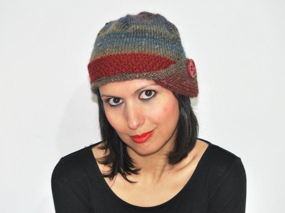 Warm knitted beanie // hat retro vintage chic by TheWoollyHill, €30.00