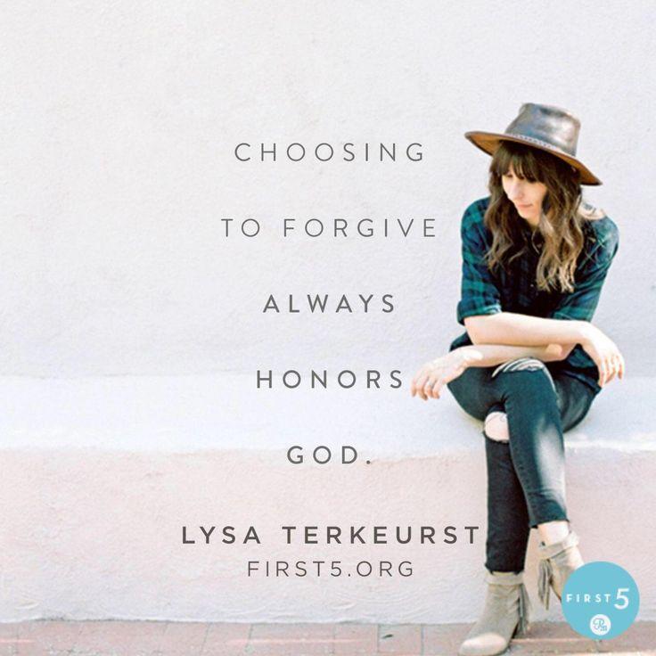 Honoring God leads to good things.   @lysaterkeurst #First5