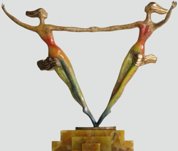 Bronze Sculptures of females by artist Esther Wertheimer titled: 'Equality' £6,417