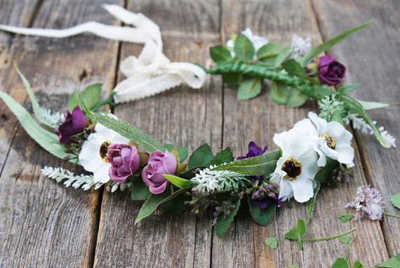 flower crown floral crown bridal flower crown wedding by mamwene