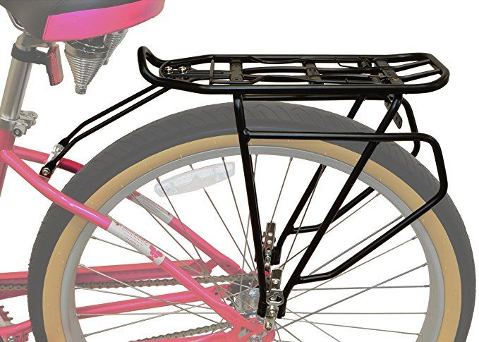 Lumintrail Bicycle Rear Frame Mounted Cargo Rack For Non Disc