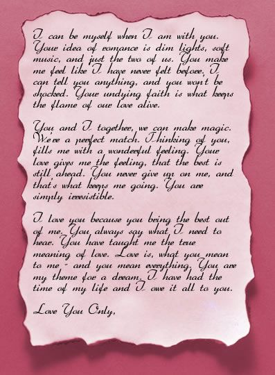 Valentines Day Love Letter Ideas - Valentines Day Love Letters for Boyfriend [ValentineDay2014Wishes.com]