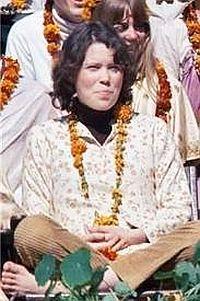 Prudence Farrow in India.