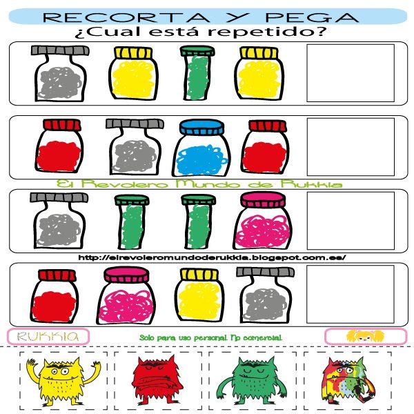 monstruo de colores, imprimible niños, aprender colores, monstruo de colores fichas, monstruo de colores actividades