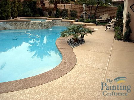 Pool Deck Refinishing by The Painting Craftsman.