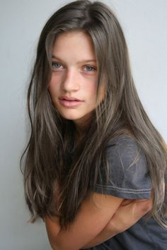 best ash brunette hair color for grey/blue eyes pale skin - Google Search